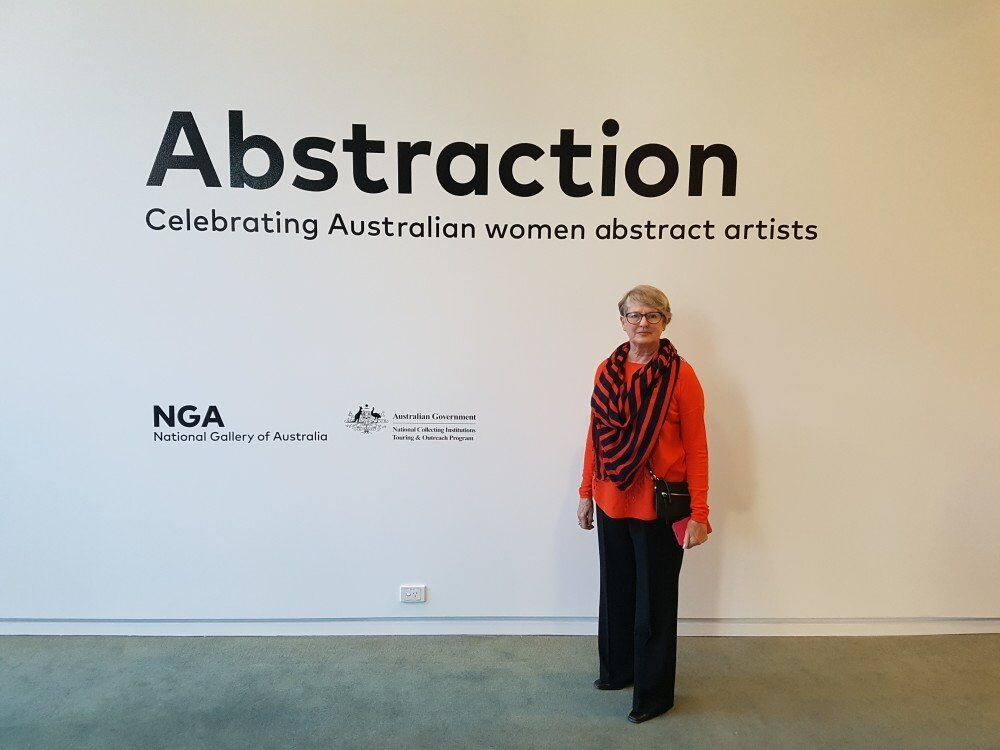 'Abstraction: Celebrating Australian Women Abstract Artists' National Gallery Touring Exhibition. Curator Lara Nicholls