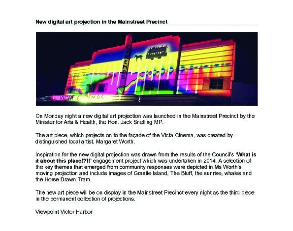 The Ripple Effect: Projection onto Victa Cinema