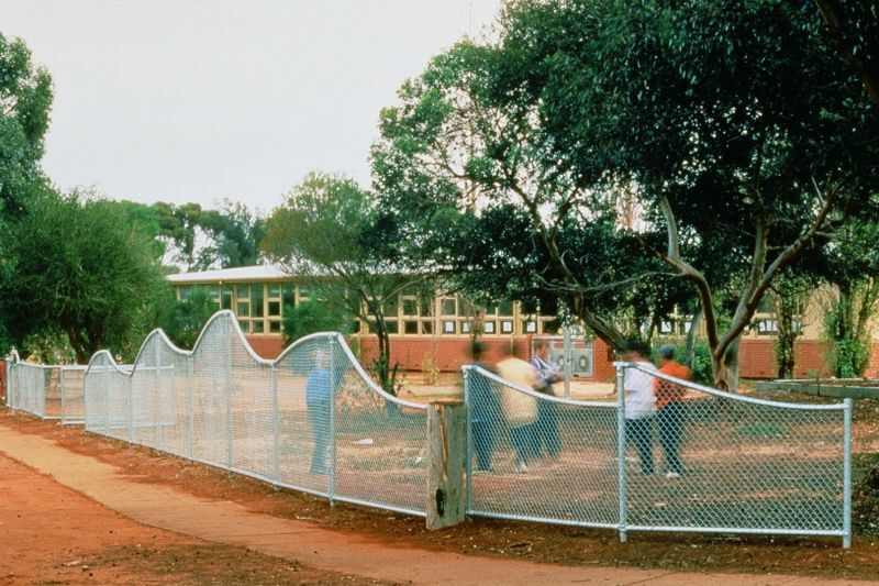 Swallowcliffe Schools: Corner  fence