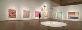 Installation space for 'Abstraction, Light, Colour at the NGA.